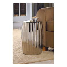 Silver Decorative Stool