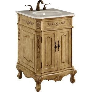 27 Quot Single Bathroom Vanity Set Antique Beige Victorian