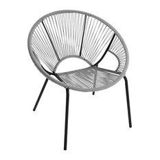 Yucatan Outdoor String Chair, Grey