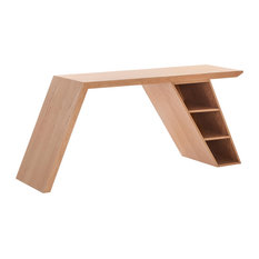 Serenity Oak Desk With Shelves