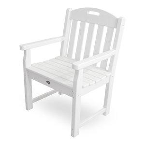 Yacht Club Garden Arm Chair, Classic White Trex Outdoor Furniture