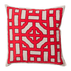 Chinese Gate Pillow 22x22x5, Down Fill