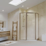 """Coastal Shower Doors - Legend Framed Neo-Angle Swing Shower Door, Clear, Brushed Nickel, 59""""x66"""" - This easy to install new line of doors offers a tremendous amount of adjustability and fast install in less than 20 minutes. Incorporating adjustable panels with up to 1-1/2 in. of adjustment, the Legend is ideal for DIY or multi-family applications where ease of installation and efficiency are paramount. By incorporating the door handle and drip sweep into the unit there are a minimal amount of parts and pieces to install. The integrated sill means there is no need to measure and cut any extrusions other than the header. Available in chrome, brushed nickel, and black finishes, the Legend will complement any bathroom decor."""