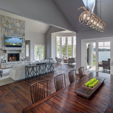 Lake Living Dining and Great Room