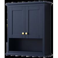 Avery Wall-Mounted Bathroom Storage Cabinet, Dark Blue