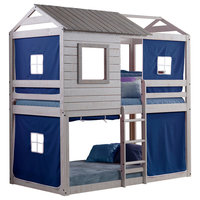Deer Blind Bunk Loft With Blue Tent