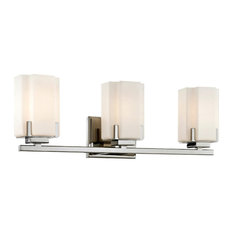 Taylor 3-Light Wall Sconce, Polished Nickel with Etched Opal Glass