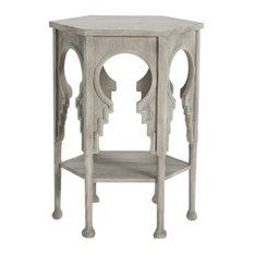 Elegant Architectural Gray Hexagon Table