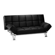 Bronx Sofabed, Black Faux Leather