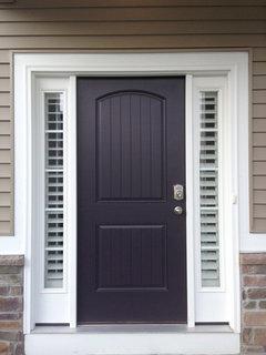 Entry Door Side Lights Mini Blinds Or
