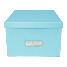 Bigso Box of Sweden Inc - Gustav Media Size Lidded Storage Box Blue -  sc 1 st  Houzz & Bigsobox Storage Bins and Boxes | Houzz