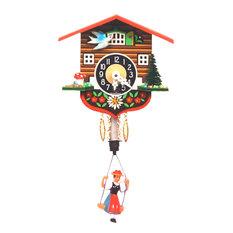 Engstler Key Wound Clock, Bouncing Girl, Mini Size