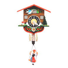 Engstler Key Wound Clock, Bouncing Girl, Mini Size