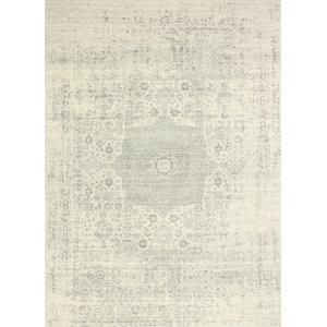 "Bashian Fanny Ivory/Silver Area Rug, 3'6""x5'6"""