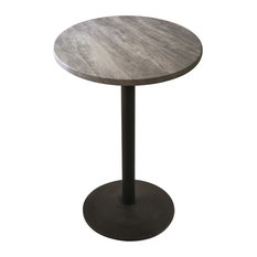 "Black Wrinkle Indoor/Outdoor Table With Black Top, 42"""