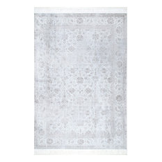 Nuloom Traditional Fading Floral Fringe Area Rug, Silver, 9'x12'