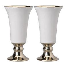 "Set of 2 Elliette Pedestal Vase D5x10"""