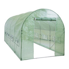 Walk-in Tunnel Green House Garden Plant, 15'x7'x7'