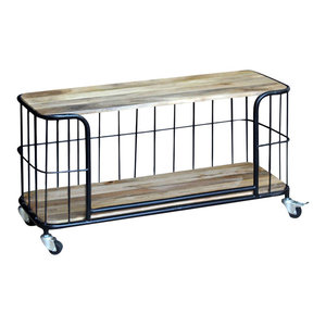 vidaXL Solid Mango Wood TV Cabinet, 100x40x45 cm