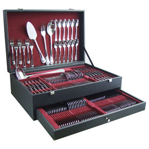 Luxembourg Cutlery With Case, 130-Piece Set