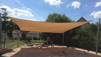 Sonnensegel für ein Spielplatz in Rödental