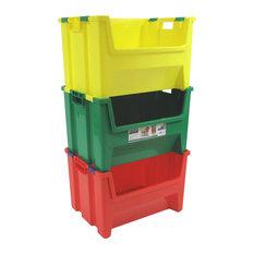 Kids Pack 'N' Stack Set of 3- 13 Gallon Bins, J07338
