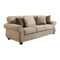Simmons Upholstery   Simmons Upholstery Camden Parchment Sofa   Sofas