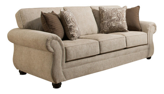 Simmons Upholstery Camden Parchment Sofa