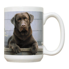 Chocolate Lab-Porch Mug