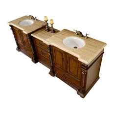 "92"" Traditional Double Sink Bathroom Vanity"