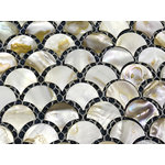 CHOIS - Wholesale Lot 12 Sheets B02 Sector Fan-Shaped Home Mother Of Pearl Shell Tiles - Note: If you have any concerns that these tiles will not be suitable for your particular application,please buy a sample first to make sure.