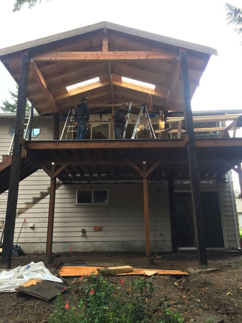Kirkland 2nd Story Deck With Roof Structure