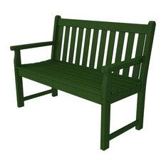"Polywood Traditional Garden 48"" Bench, Green"