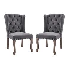 Apprise Side Chair Performance Velvet Set of 2, Gray