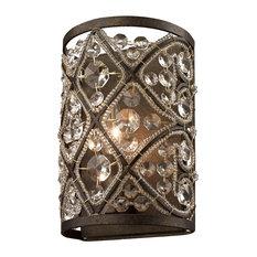 Victorian 1 Light Vanity Light in Antique Bronze Finish
