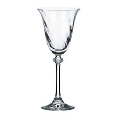 "Bohemia Crystal ""Alexandra"" Optic White Wine Glasses, Set of 6"