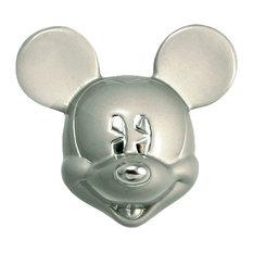 Nickel Mickey Mouse Head Drawer Knob