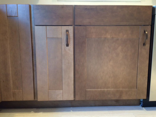 The Wood Is Maple Stain Husk They Are A Semi Custom Cabinet Learned Manufactured By Mid Continent Distributed To My Contractor