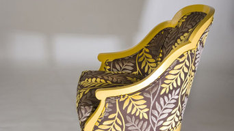 Unique Lacquered and Upholstered Chair