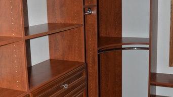 Warm Cognac Laminate Closet System