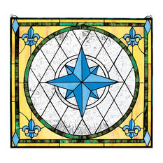 Compass Rose Stained Glass Window