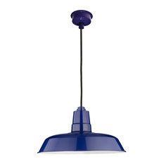 """12"""" Oldage LED Pendant Light, Cobalt Blue"""