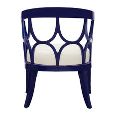 Worlds Away Campbell Lacquer Chair, Navy