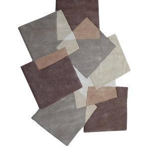 Pebbles Squares Rug, Brown, 240x170 cm