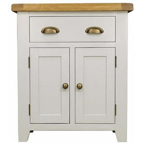 Modern Stylish Sideboard, Grey Painted MDF With 2-Door and 1-Storage Drawer