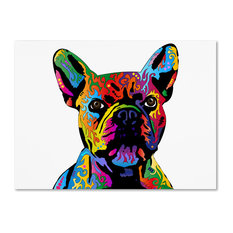 "Michael Tompsett 'French Bulldog' Canvas Art, 47""x35"""
