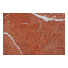"""Rojo Alicante Marble Tiles, Polished Finish, 12""""x12"""", Set of 40"""