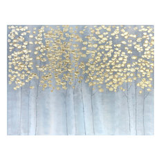 "International Image & Canvas - ""Golden Forest"" Hand Painted Oil Canvas Art - Paintings"
