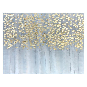 """Golden Forest"" Hand Painted Oil Canvas Art"