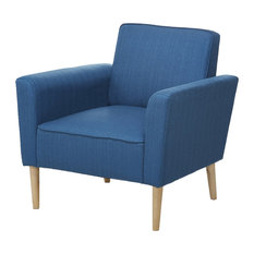 Nice Gold Sparrow   Carlsbad Armchair, Blue   Armchairs And Accent Chairs